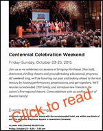Cleveland Play House Centennial Celebration Weekend