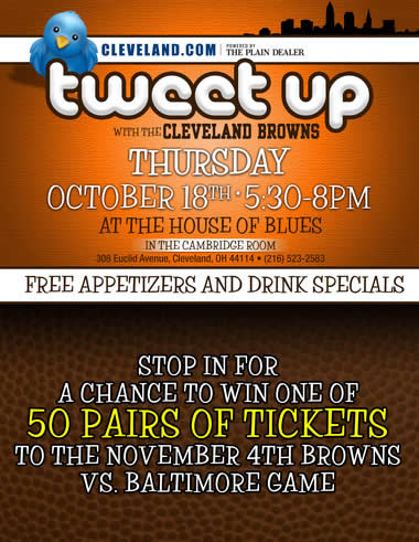 @ClevelandDotCom & @OfficialBrowns #CLEtweetup at the @HOBCleveland