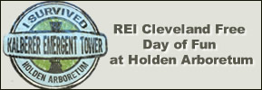 1) Sunday, April 29, 2018 - REI Cleveland Free Day of Fun at Holden Arboretum