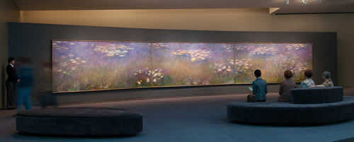 Monet's Water Lilies three panels photo from The Nelson-Atkins Museum of Art