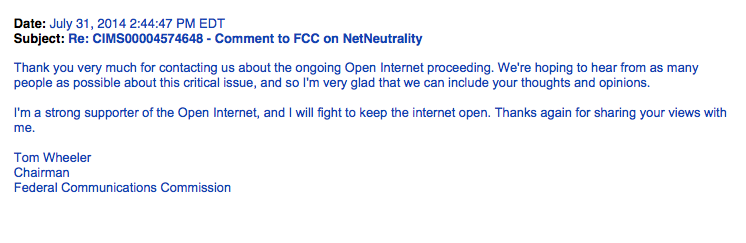 July 31, 2014 - FCC Chairman Tom Wheeler