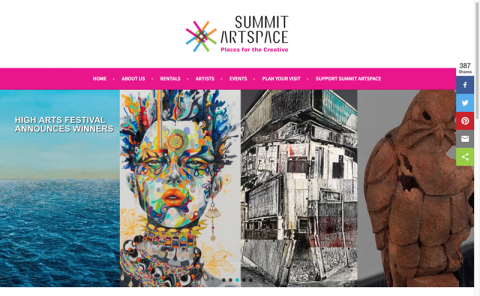 NEW Summit Artspace Website created at Cleveland GiveCamp Weekend 2018