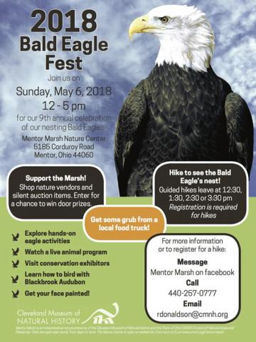2018 Bald Eagle Fest at Cleveland Museum of Natural History's Mentor Marsh