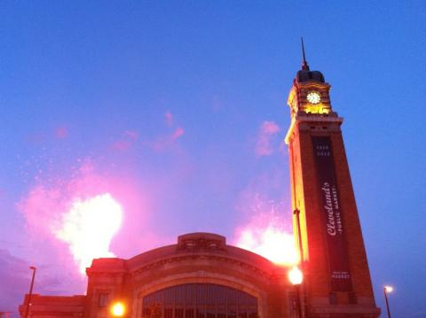 Fireworks at West Side Market for centennial celebration