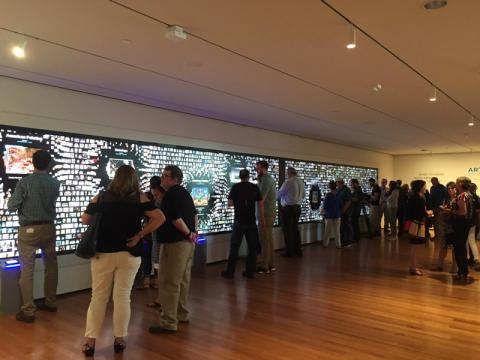 ArtLens Wall - Facilitates discovery and dialogue with other visitors and can serve as an orientation experience