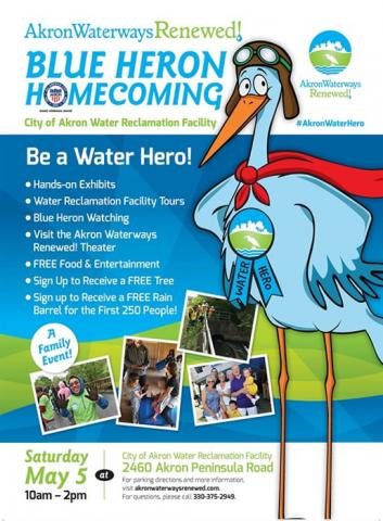 Akron Waterways Renewed! Blue Heron Homecoming