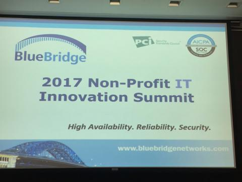 BlueBridge Networks Third Non-Profit IT Innovation Summit