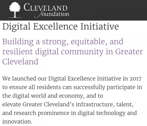 Cleveland Foundation Digital Excellence Initiative