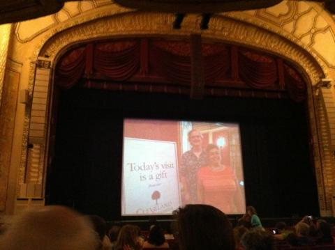 Look whose photo is on Connor Palace Theatre stage! Gift of the Cleveland Foundation