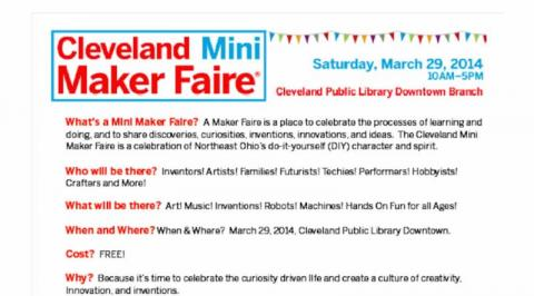 Announcing March 29, 2014 Cleveland Mini Maker Faire