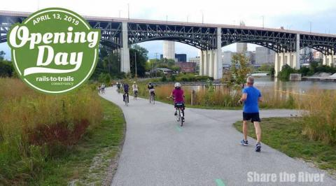 Share The River photo of Rails-to-Trails Conservancy Opening Day for Trails - Cleveland!