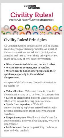 Civility Rules! Principles For Civil Civic Conversation
