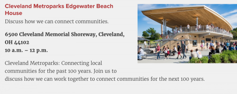 Edgewater Beach House - Discussed connecting Cleveland Metroparks to communities