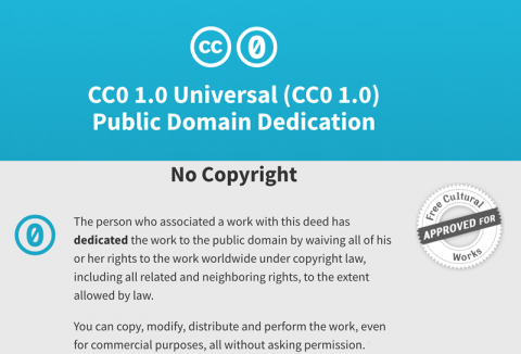 Creative Commons Zero (CC0): Waives all rights to work worldwide under copyright law