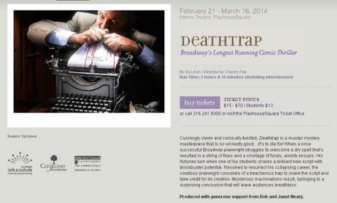 Great Lakes Theater Deathtrap