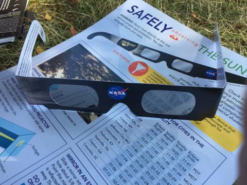 Thank you Astrozap for donating the eclipse glasses!