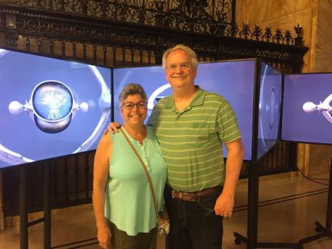 Juie and Stuart at FRONT International Triennial - Federal Reserve Bank of Cleveland