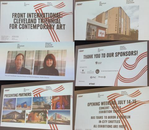 Monday, April 30, 2018 - FRONT International Cleveland Triennial for Contemporary Art Discussion at MidTown Tech Hive