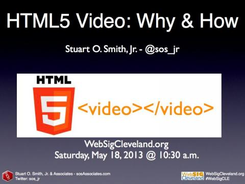 HTML5 Video: Why & How