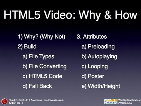 HTML5 Video: Why & How Topics
