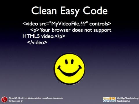 HTML5 Video: Clean, Easy Code