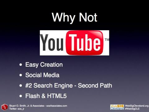 Why Not? YouTube makes it easy to embed video