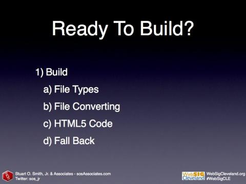Let's build some HTML5 Video. Here are the steps...