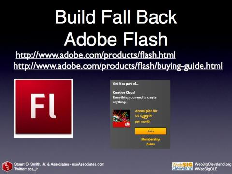 Adobe Flash fall-back option