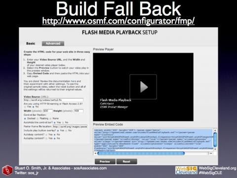 Flash Media Playback fall-back option