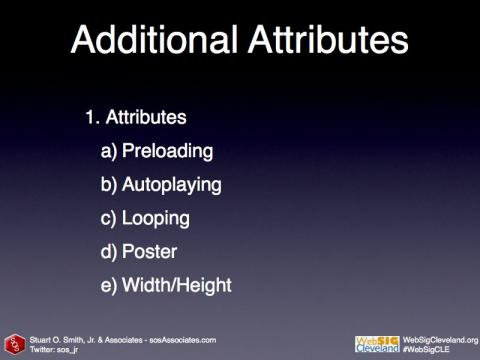 List of the additional HTML5 Video attributes