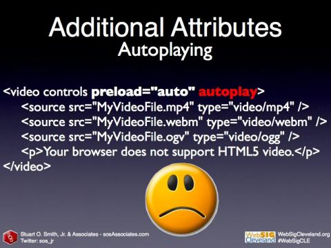 Autoplay HTML5 Video code sample