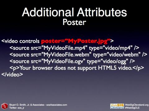 Poster HTML5 Video code sample