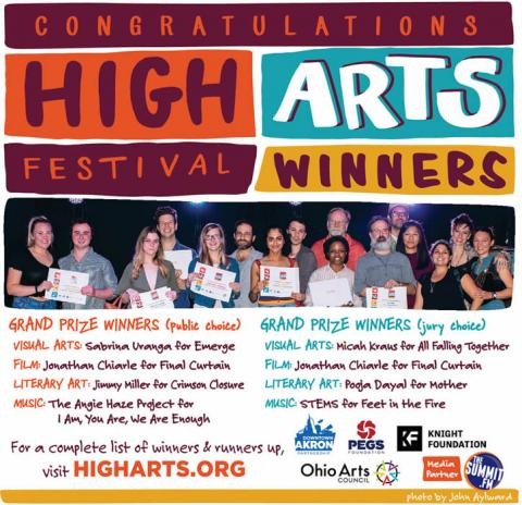 High Arts Festival Akron 2018 Winners