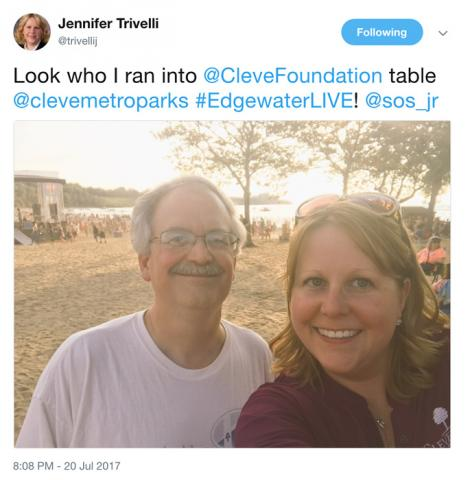 Jennifer Trivelli and me at Cleveland Metroparks Edgewater Live!