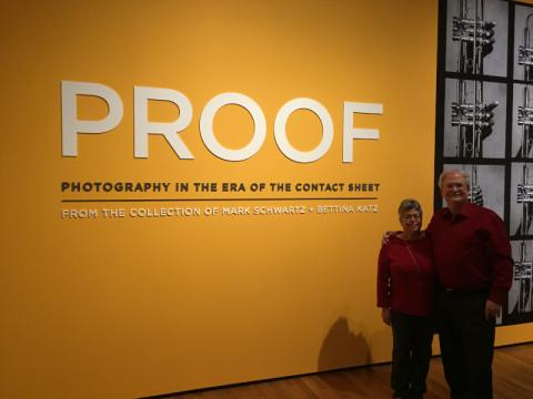 "Julie and Stuart at the opening for ""PROOF: Photography in the Era of the Contact Sheet"""
