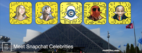 "Cleveland.com's ""Meet Snapchat Celebrities"" at the Rock & Roll Hall of Fame"