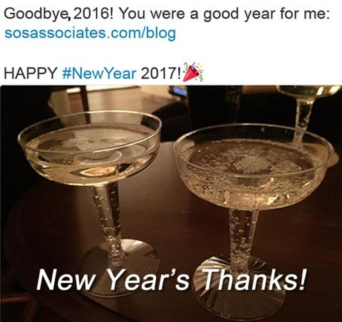 #NewYearsEve and #NewYearsDay #Thanks!