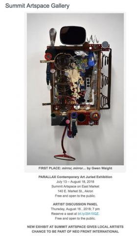 PARALLAX Contemporary Art Juried Exhibition at Summit Artspace Main Gallery