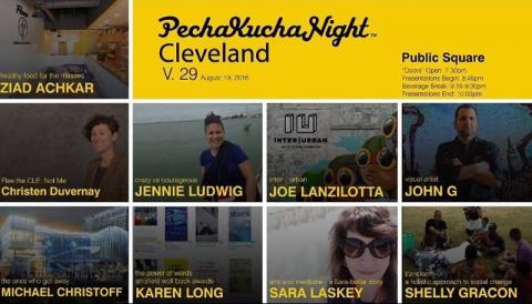 Friday, August 19, 2016 - PechaKucha Night Cleveland at Cleveland Public Square
