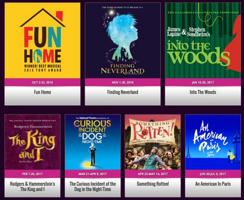 PlayhouseSquare's 2016-2017 KeyBank Broadway Series