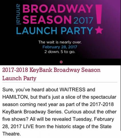 The BIG Event: The PlayhouseSquare 2017-2018 KeyBank Broadway Series Launch Party!