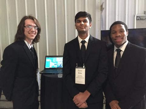 RITE CoolTech Challenge Winners - Eli Carty, Shrey Patel, and Caleb Kremer
