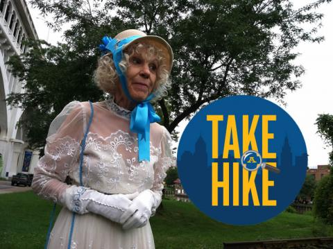 "Historic ""visit"" from Mary Kelley on Canal Basin Park in the Flats ""Take A Hike"" Tour"