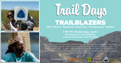 "Virtual Trail Days: Trailblazers featuring Will ""Akuna"" Robinson and Elsye ""Chardonnay"" Walker"