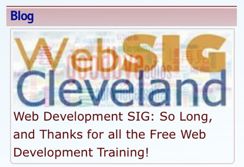 Web Development SIG: So Long, and Thanks for all the Free Web Development Training!