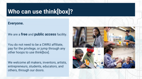 """Who can use think[box]"" slide"