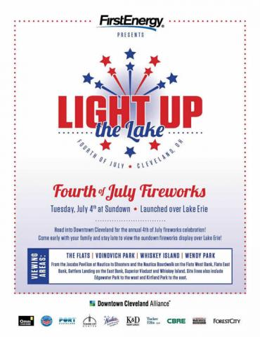 July 4, 2017 - Light Up The Lake Cleveland!