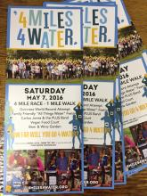 Third Annual 4 Miles 4 Water - Saturday, May 7th, 2016