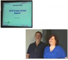 "Bob Coppedge & Jane Winik present the new ""Craze eCool Award"""