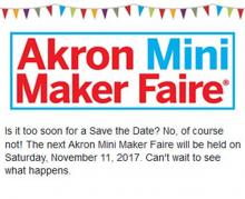 Announcing Akron Mini Maker Faire 2017!